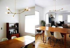 danish teak dining table with eames chairs - Google Search