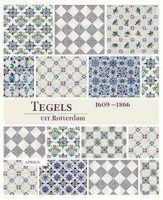 In Rotterdam zijn er van het begin van de zeventiende eeuw tot aan 1866 vele miljoenen tegels gebakken. Deze gigantische productie varieert van de welbekende, 'Delftse', blauw beschilderde tegeltjes met bijvoorbeeld kinderspel, ambachten en bijbelse voorstellingen tot aan zeer fraaie en bijzondere tegels en indrukwekkende tegeltableaus. Rotterdamse tegels zijn te zien in Franse kastelen, Duitse paleizen, Spaanse en Portugese kerken en zelfs in het Topkapi paleis in Istanbul. Rotterdam, Rest Room, Delft, Tiles, Sweet Home, Hand Painted, Colours, Patterns, Interior Design