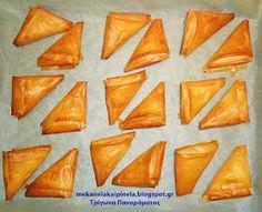 Με κανέλα και πινέλα: Τα βελούδινα τρίγωνα Πανοράματος Party Desserts, Dessert Recipes, Greek Recipes, Deserts, Vegetables, Cake, Sweet, Food, Syrup