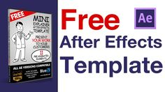 After effects templates, The video explainer after effect template download it for free!