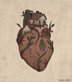 illustration art Ilustraciones que expresan e - art Illustrations, Illustration Art, Art Sketches, Art Drawings, Art Watercolor, Anatomy Art, Heart Art, Aesthetic Art, Art Inspo