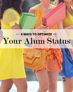 4 ways to optimize your alum status when searching for a job #career