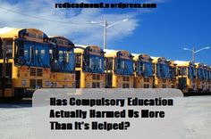 Has Compulsory Education Actually Harmed Us More Than It's Helped?