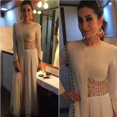 Karishma kapoor looking stunning in ridhima bhasin draped jumpsuit saree styled by Esha Amin #karismakapoor#celebrityoutfits#bollywood #missmalini #ridhimabhasin #igers #indianfashion #designer #indiandesigner #celebrityspotting