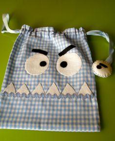 #bolsa #merienda #bocadillos #diseño   monster string bag