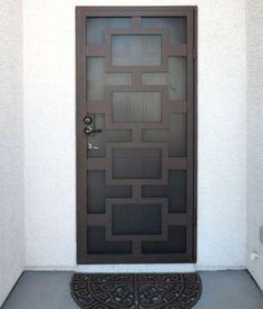 what does security door cost Metal Doors Design, Door Gate Design, Exterior Door Designs, Metal Door, Doors, Door Cost, Iron Gate Design, Security Door, Iron Security Doors