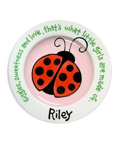 Look what I found on #zulily! Ladybug Personalized Plate #zulilyfinds