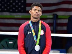 Shakur Stevenson (USA) wins silver in men's bantam