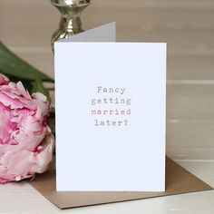 'getting married later' wedding day card by slice of pie designs | notonthehighstreet.com
