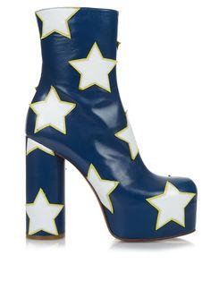 Stars leather platform boots | Vetements | MATCHESFASHION.COM