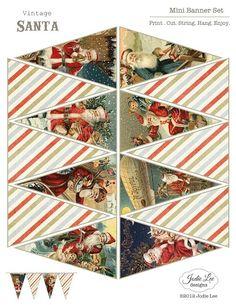 #Christmas #paper template #Santa
