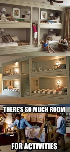 These bunk beds are awesome. I want these and I'll sleep in a different bed…