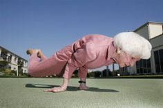 OK, so most of my yoga students don't do this pose, but it shows what is possible for some, at any age.  blog.wellnessencounters.com