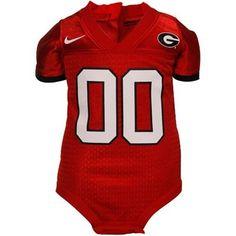 Nike Georgia Bulldogs Infant Red Football Jersey Creeper