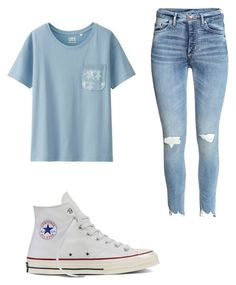 """""""Outfits for school"""" by abbeyhopp on Polyvore featuring Uniqlo and Converse"""