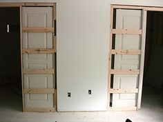 Skinny pocket door for basement bedroom closet