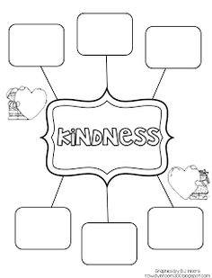 Kindness freebie, teaching character and can be incorporated into teaching MLK!