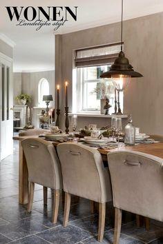 Wonen landelijke stijl - table setting -