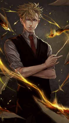 Image about art in harry potter by unipotter on We Heart It Harry Potter Oc, Harry Potter Anime, Harry Potter Characters, Fantasy Demon, Demon Art, Dark Fantasy, Got Anime, Hot Anime Guys, Anime Artwork
