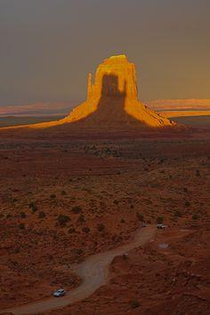 Monument Valley, Utah, United States - shadow reversed