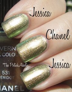 Jessica Iridescent Eye vs Chanel Peridot