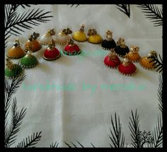 Handmade silk thread jhumkas