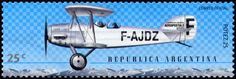 Stamp: Aircraft Potez 25 (Argentina) (Birth centenary of Antoine de Saint-Exupéry) Mi:AR 2582,G&o:AR 3055,Gz :AR 2524