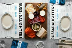 Kelli Anderson: Russ & Daughters / on Design Work Life #menu #layout #typography
