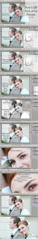 portrait editing in photoshop