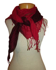 Eileen Fisher Airy Linen Cashmere Ombre Square Scarf - Lacquer These incredible airy linen scarves from Eileen Fisher have us over the moon! Light linen and cashmere make for the softest, most comfortable piece in go-to charcoal or stunning lacquer-red! Such soft, sophisticated style makes an amazing gift! http://www.melange4women.com/eifiailicaom2.html