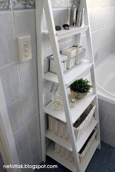 Small Bathroom Storage Solutions and Shelving Ideas bathroom ideas shelving s .Small Bathroom Storage Solutions and Shelving Ideas bathroom ideas shelving s . Small Bathroom Storage Solutions and Shelving Ideas bathroom ideas Small Bathroom Organization, Bathroom Storage Shelves, Home Organization, Bedroom Storage, Bathroom Storage Ladder, Bath Storage, Organizing, Storage Bins, Ikea Ladder Shelf