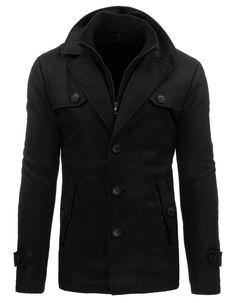 Płaszcz męski zimowy czarny (cx0329) - Dstreet.pl