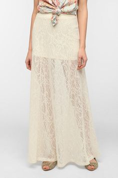 #Urban Outfitters         #Skirt                    #Needles #Lace #A-Line #Maxi #Skirt                 Pin And Needles Lace A-Line Maxi Skirt                                        http://www.seapai.com/product.aspx?PID=1529782