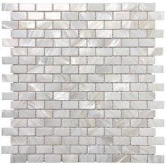 Mother of Pearl Mosaic Tiles for Bathroom Backsplashes, White Subway Backsplash Tiles 12 inch x 12 Pack) Mosaic Wall Tiles, Marble Mosaic, Mosaic Glass, Glass Tiles, Mirror Glass, Beveled Mirror, Mosaics, Subway Backsplash, Mosaic Backsplash