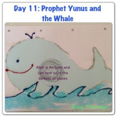 Prophet Yunus and the Whale Activity: Make a glittery whale to demonstrate how the Almighty can even hear in the deepest darkest ocean, even from the belly of a whale
