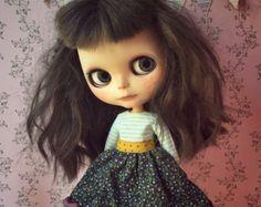 Lavender Sleeveless Dress for Blythe dolls with by splattergirluk