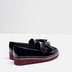 Image 5 of TASSELLED LOAFERS WITH CONTRAST SOLE from Zara
