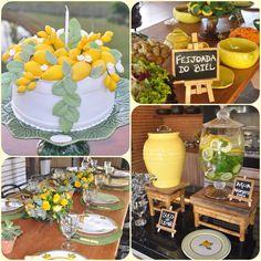 Decoração festa limão siciliano almoço feijoada decor por patty tuon