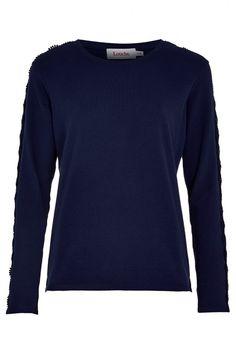 Louche Elvah Lace Trim Sweatshirt   JOY
