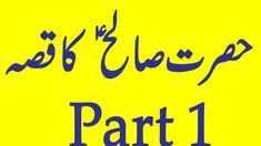 Prophet Hazrat SALEH A.S/prophet stories/صالح عليه السلام/ part 1 Islamic, Channel