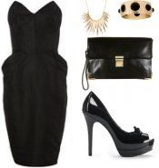 Little Black Strapless Peplum suitable for any occasion. #trends