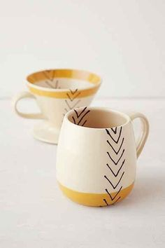 Kitchen Storage + Organization Toast Ceramics Pour-Over Coffee Set Pottery Mugs, Ceramic Pottery, Painted Pottery, Thrown Pottery, Slab Pottery, Ceramic Cups, Ceramic Art, Ceramic Fish, Ceramic Birds