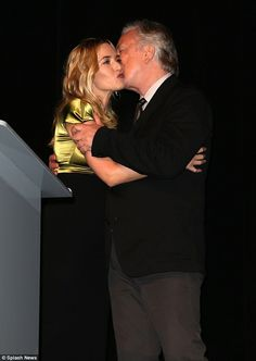 Alan Rickman and Kate Winslet at the premiere of 'A Little Chaos'