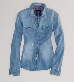 AE Denim Western Shirt-want this for this fall