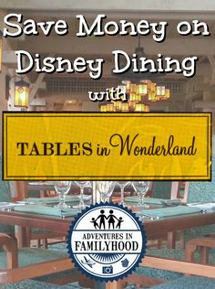 Tables in Wonderland can save you money on your Disney trips. It's a great alternative to the Disney Dining Plan or other discounts that might be available. Disney Vacation Club, Disney Vacation Planning, Disney World Planning, Walt Disney World Vacations, Disney Cruise Line, Trip Planning, Planning Board, Disney Travel, Disney Parks