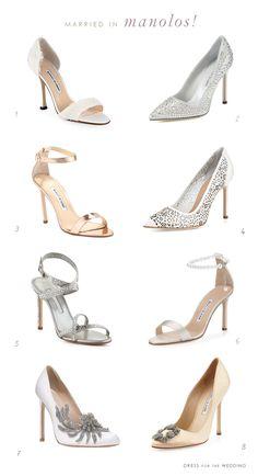 Gorgeous Wedding Shoes by Manolo Blahnik