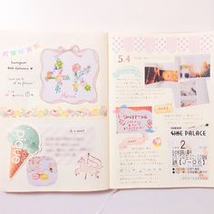 daily pages:: so sweetly layout | #Journal #smashbook #MDnote 's site is www.midori-japan.co.jp/md/
