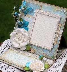 Frame card, by Susan @ Killam Creative. 3d Cards, Easel Cards, Folded Cards, Cool Cards, Scrapbooking, Scrapbook Cards, Interactive Cards, Embossed Cards, Butterfly Cards