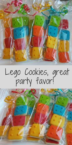Planning a Lego Party? Have these lego cookies as a party favor! So cute and perfect! #lego #legoparty #cookie #legocookie #minicookie #affiliate