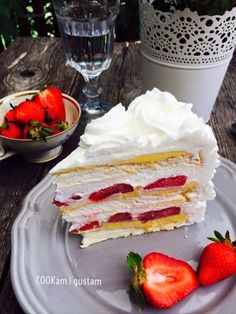 COOKam i guštam: Ledeni vjetar Torte Recepti, Kolaci I Torte, Baking Recipes, Cake Recipes, Dessert Recipes, Desserts, Bread Dough Recipe, Sugar Free Baking, Torte Cake